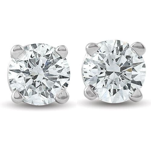 1//3 ctw 14k White Gold Diamond Stud Earrings