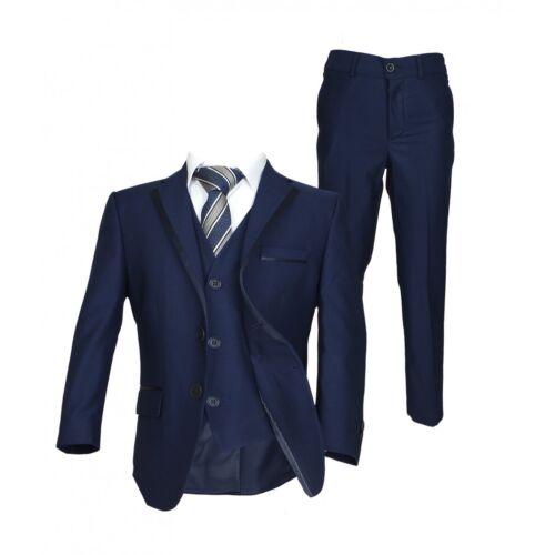 Page Boy Suits Premium Formal Boys Wedding Suit Grey Navy Blue Black Suit