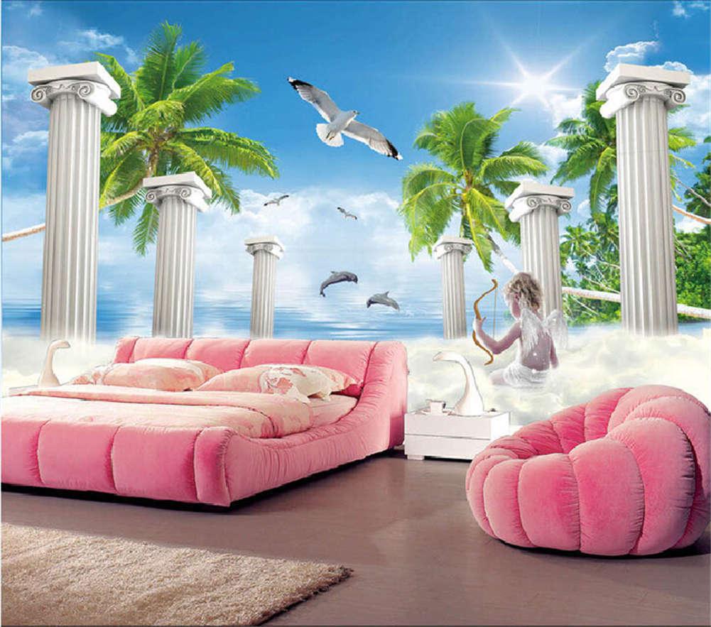 Beauty Seaview Room 3D Full Wall Mural Photo Wallpaper Printing Home Kids Decor