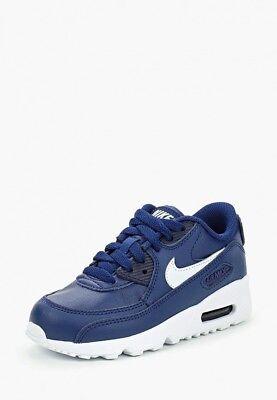 Scarpe sportive bimbo Nike Air Max 90 LTR PS 833414 411 Blu Bianco Pelle | eBay