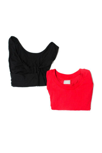 Athleta Womens Shirts Red Black Size Small Extra S
