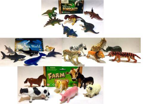 Dinosaurs giocattoli animali da fattoria Cow Cavallo Mare Balena Delfino Animale Selvatico Tigre Leone