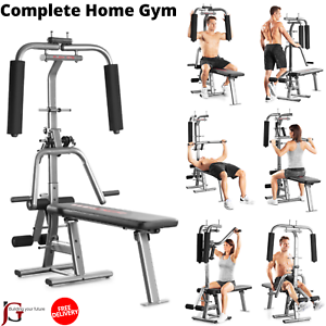 complete home gym  weight bench with bench press