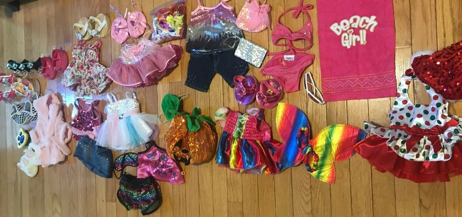 Build A Bear Workshop BBW Lot Of 11 Outfits Clothes schuhe Accesories Halloween