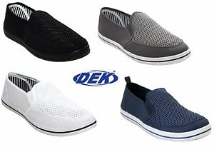 mens slip on canvas go walk summer pump beach flat mesh