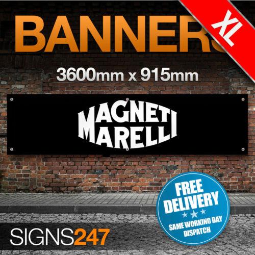ZC127 EXTRA LARGE Magneti Marelli Automotive garage workshop PVC banner sign