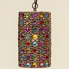 Deckenlampe Pinza 33x21cm bunt Zylinder Orient Lampe Kristall Kristallleuchter