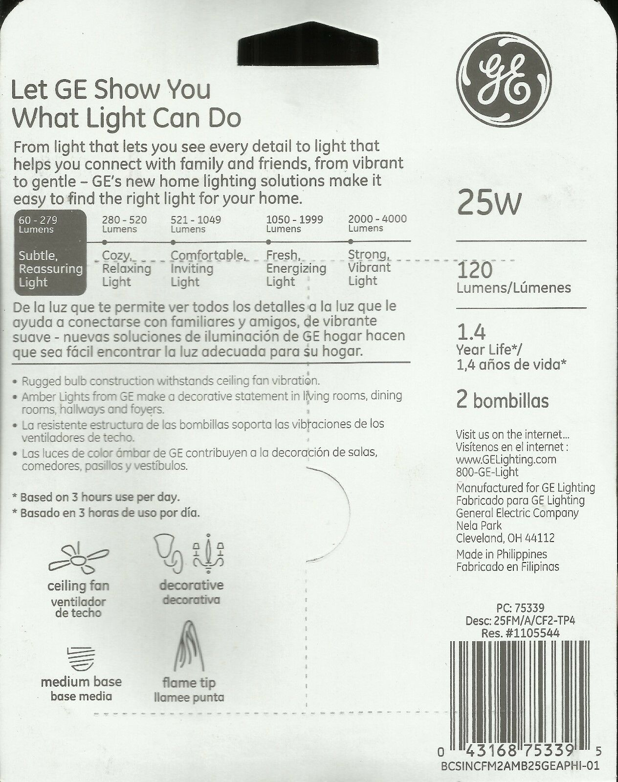 Bulbrite 860257 STRING15//E26-25F15CL Outdoor String Light with Clear Iridescent Fiesta Bulbs 48 48/'