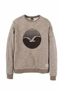 Cleptomanicx-Vintage-Print-Crewneck-Sweater-brown-NEU-Gr-XL-portofrei