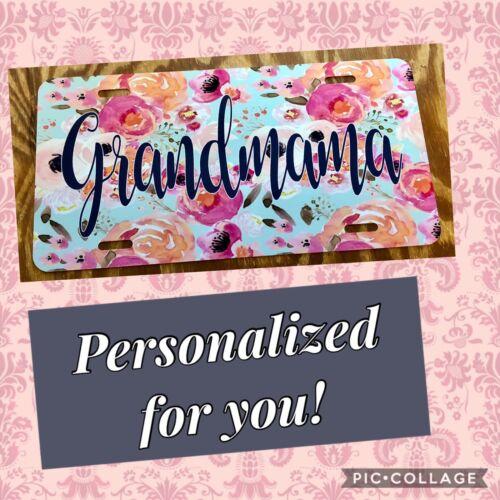Personalized License Plate Grandmama Car Tag Custom Name Nana Grandma Car Tag