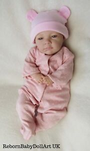 Newborn Handmade Eyes Open Reborn Baby GIRL Doll by #BabyDollArtUK
