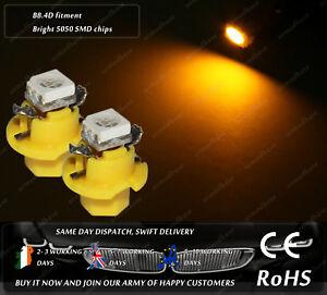 LED-SMD-B8-4D-Amber-Dashboard-Cluster-Lights-Speedo-Instrument-Gauge-Clock-Bulbs