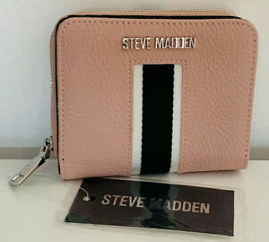NEW-STEVE-MADDEN-BLUSH-PINK-FRENCH-ZIP-AROUND-CLUTCH-WALLET-PURSE-SALE