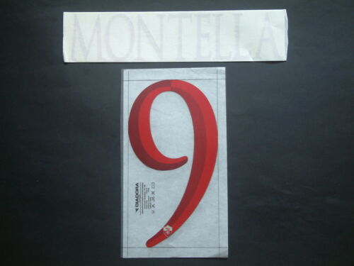 NOME+NUMERO UFFICIALE AS ROMA HOME//AWAY//CL 2006-2007 official nameset
