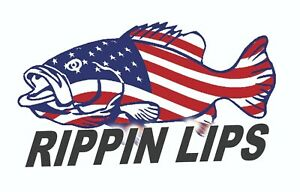 Details about RIPPIN LIPS USA BASS FISHING STICKER REEL ABU VINTAGE DECAL  MECHANIC TOOLBOX USA