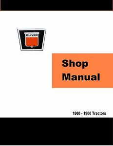 Oliver-1800-amp-1900-Factory-Shop-Service-Manual-Reproduction