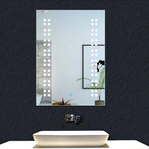 Bathroom LED Mirror,Touch Sensor Switch,Anti Fog Demister,Vertical Horizontal