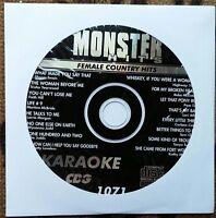 Female Country Hits Karaoke Cdg Monster Hits Mh1071- Tanya Tucker,shania Twain