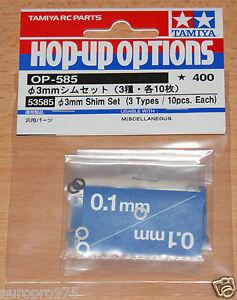 Tamiya-53585-3mm-Shim-Set-3-Types-10-Pcs-Each-TRF418-TRF419-TA05-TA06-TA07