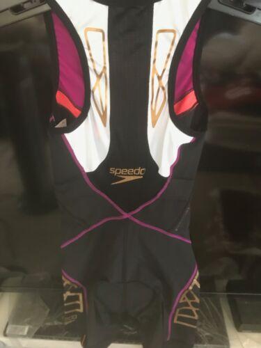 Speedo Photon Triwear Swimsuit Full Body Front Zipper Black 7707024 Women/'s XS