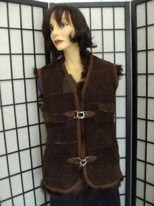 canadiske kvinde brun petite vest kvinder 4 jakke 6 størrelse lam Mint pels jakke Oa6qdOx