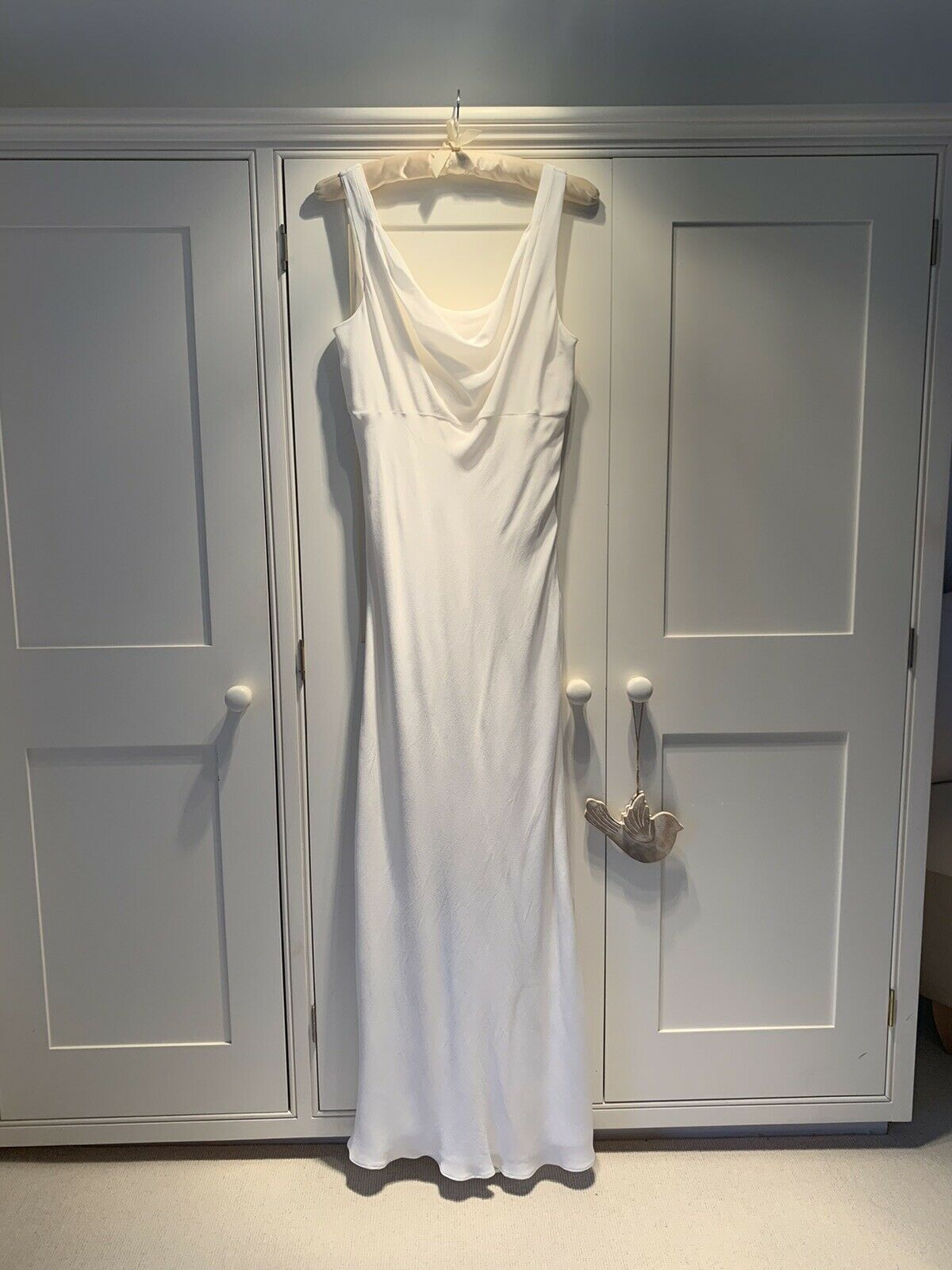 Wallis Long Ivory Dress - Size 12 - Bridesmaid Or Evening