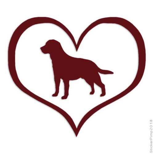 Heart Labrador Retriever Dog Decal Sticker Choose Color Size #1478