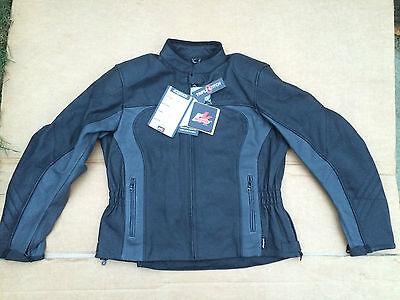 "Ladies RK SPORTS Leather Motorbike / Motorcycle Jacket UK 18 (42"" Chest) (J44)"