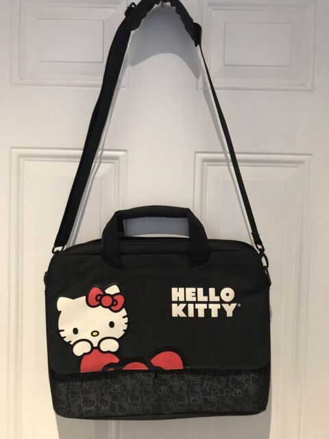 HELLO KITTY PC MAC LAPTOP Notebook Computer BAG CASE with SHOULDER STRAP 4642d9c1abb0c