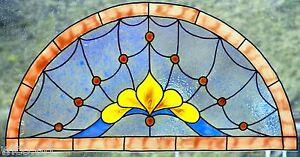 WICOART-WINDOW-COLOR-STICKER-CLING-FAUX-STAINED-GLASS-DEMI-CERCLE-28X14-ART2DECO