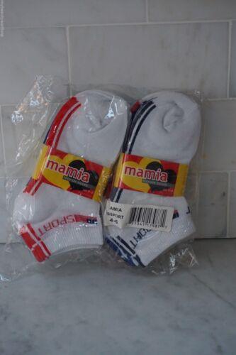 Size: 4-6 NEW FREE SHIPPING... Mamia Fashion Kids White Socks Ankle 12 Pairs
