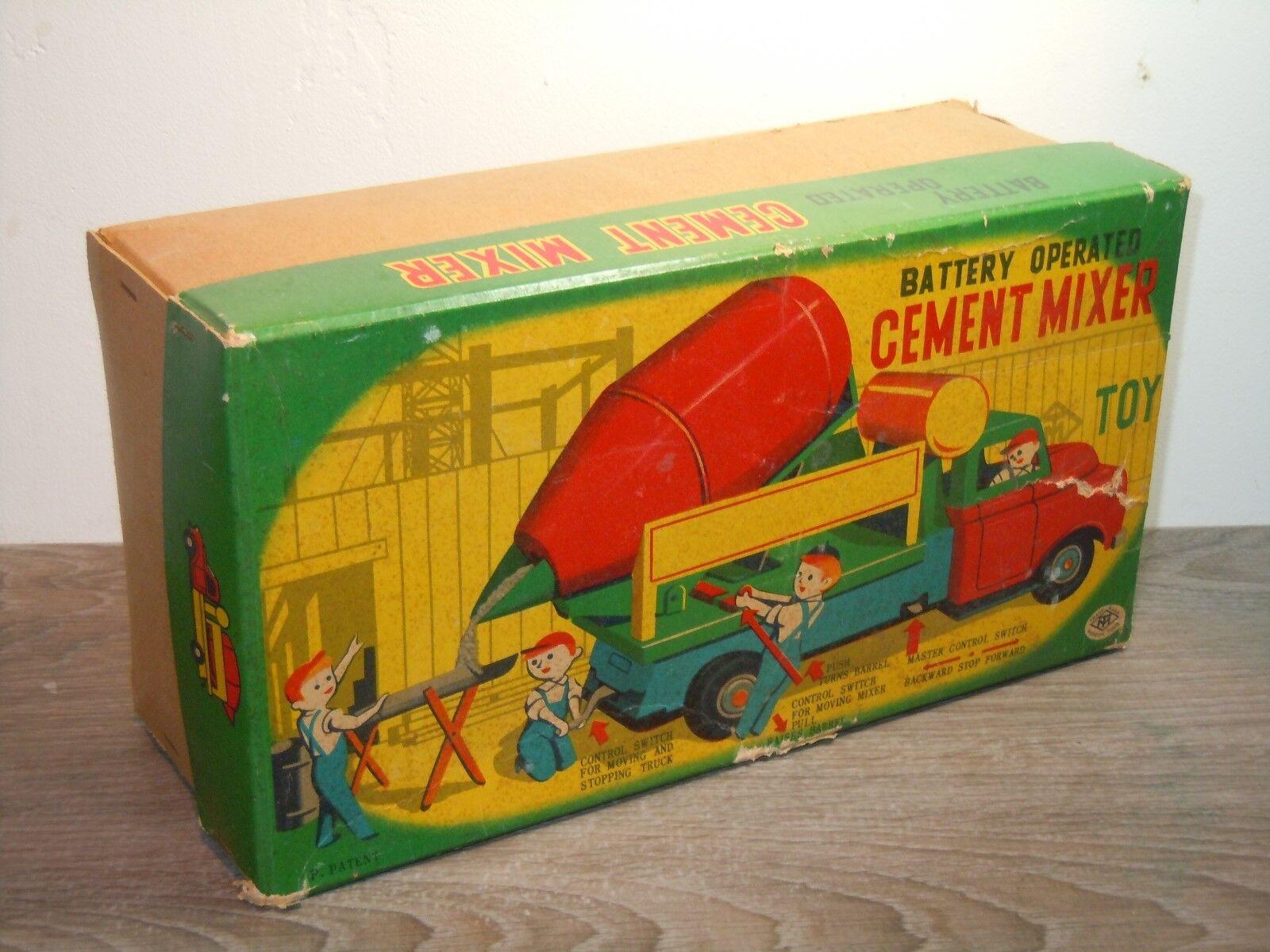 Battery Operated Cement Mixer Mixer Mixer - Modern Toys Masudaya Japan in Box 36182 f16d59