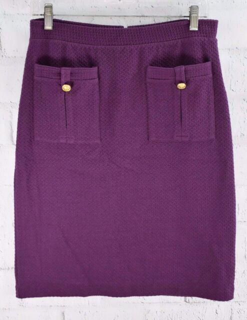41bdd1aa79 New Vanessa Virginia Anthropologie Bonny Pencil Skirt Purple Knit Lined Sz M
