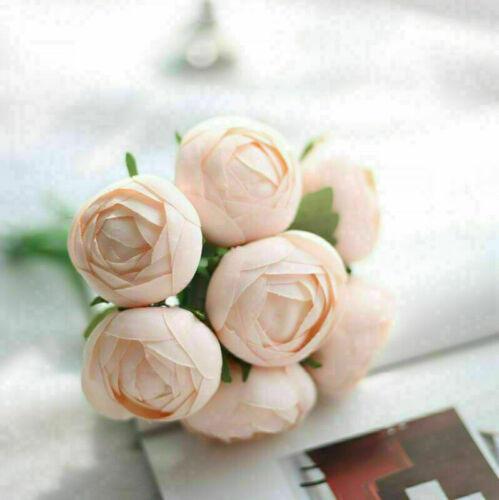 7 Heads Artificial Silk Flowers Ranunculus Wedding Bouquet Party Home Decor Gift