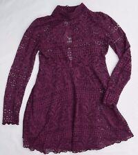 FP BEACH Free People Layered Purple Long Sleeve Lace Shirt + Tank Top Womens S/P