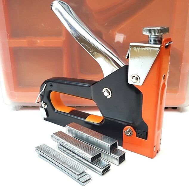 Heavy Duty Staple Gun 3 in 1 Stapler Nail Tacker Upholstery Display Boards  DIY