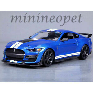 Maisto-31388-2020-Ford-Mustang-Shelby-Gt-500-1-18-Diecast-Modelo-Coche-Azul