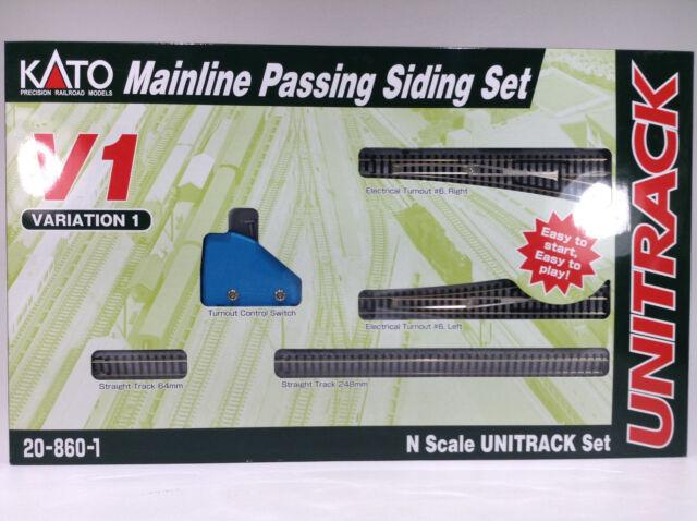 Brand New Kato Unitrack V1 Set Mainline Passing Siding Set # 20-860-1 # TOTE1