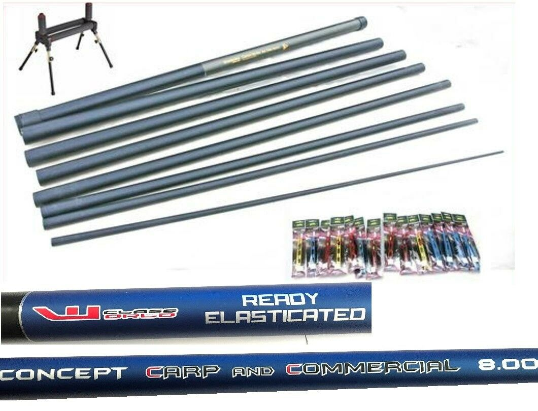 Carp Fishing Concept   Pole 14 Elastic Fitted 14 Carp Pole Rigs & Roller