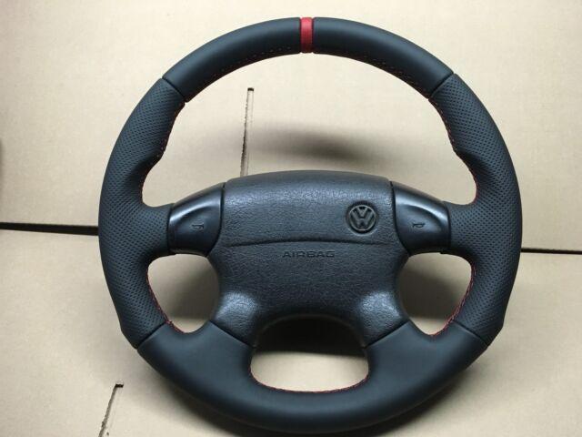 VW GOLF 3 PASSAT B4 Vento Lenkrad Lederlenkrad  Neu bezogen Daumen GTi VR6