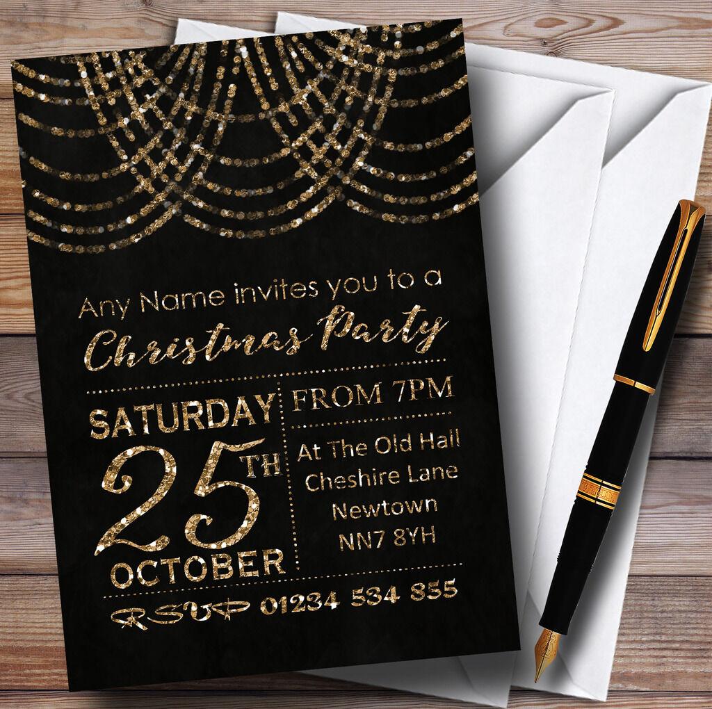 Bronze drape lumières invitations personnalisé noël party invitations lumières 3c1f9a