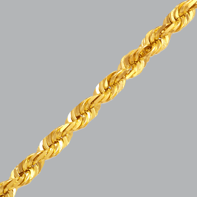 """12"""" Beautiful And Charming Analytical New Yellow Gold Solid Heavy Rope Chain Anklet 1mm 3.5mm Sizes 7"""""""