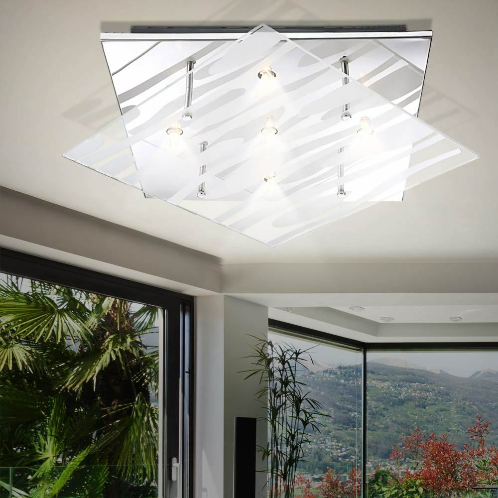 Design ceiling lampee glass linien lichting Kids Living zimmer lampe g9 Chrome