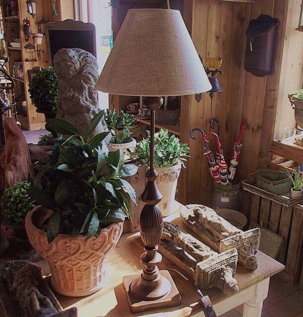 HOHE LANDHAUS LAMPE TISCHLAMPE LANDHAUSSTIL METALL TISCHLEUCHTE 70cm HOCH NEU