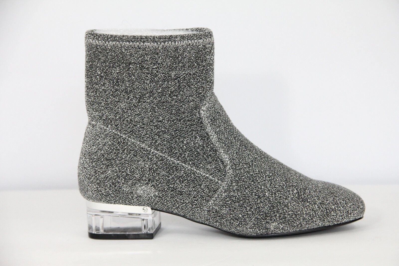 Nine West Damenschuhe Stiefel Fashion Booties Silver Metallic Stretch Retro sz 8 NEU