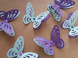 24x 3d Paper Butterflies Wedding Party Table Decorations Light Blue