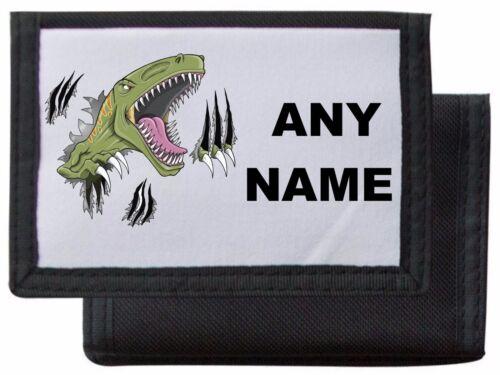 Personnalisé dinosaure portefeuille//sac à main mayzie designs ® noir//bleu//rose//rouge