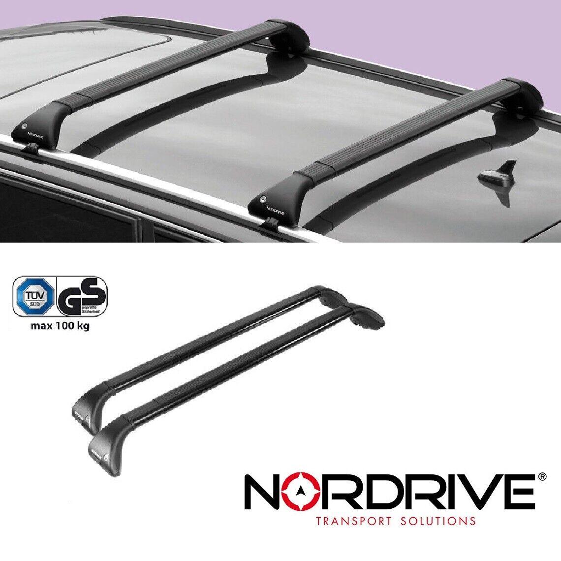 Barre portatutto per Opel Mokka dal 11//2012 al 03//2016 dotate di serratura antifurto portapacchi Nordrive Snap Steel in acciaio nero