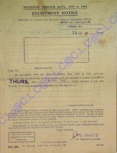 En Temps De Guerre Années 1940 Memorabilia Museum Qualité Réplique Militaire Enrôlement Avis-afficher Le Titre D'origine