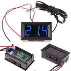 DC 12V Blue LED Digital Thermometer Temp Sensor Meter Probe -50~110C Detector